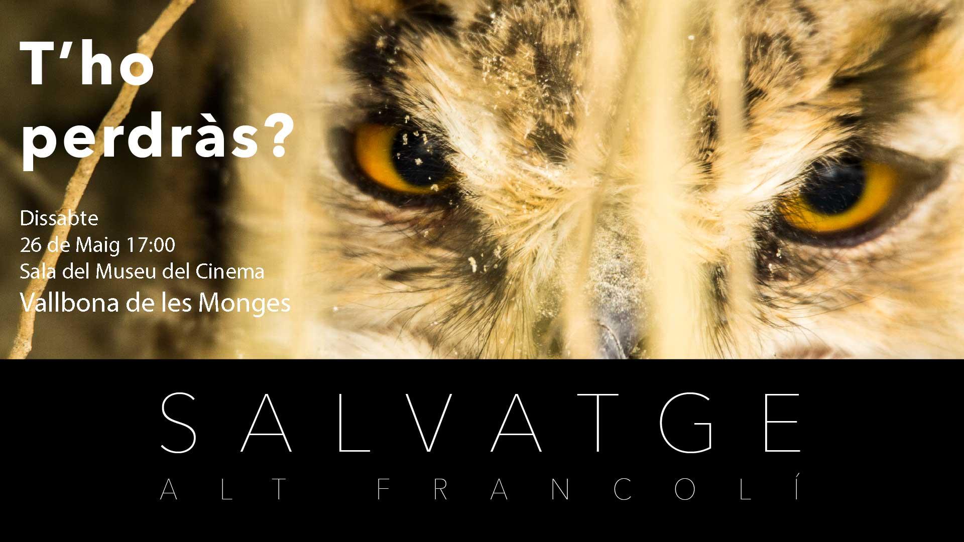 Cartell de Salvatge -Alt Francolí per a la fira Vallbonatura de Vallbona de les Monges